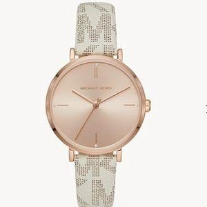Michael Kors leather wristwatch